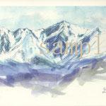 飯縄山山頂より白馬岳