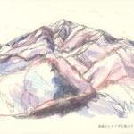 華厳山より雪の大山