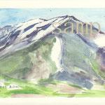 燧ヶ岳(ひうちがたけ)山頂より至仏山(しぶつさん)