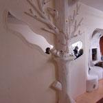 Baum im Speiseraum
