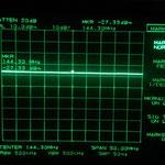 "Retun Loss a 144 mhz Potenza IN 0dBm ""accoppiatore perde circa 10dB"" RL -17dB ""circa 1.4 ros"
