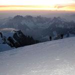 Mont Blanc-Gruppe 16 - Blick vom Gipfel des Mont Blanc