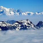 Mont Blanc-Gruppe 6 - Blick vom Gran Paradiso