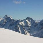 Mont Blanc-Gruppe 14 - Blick vom Glacier du Géant