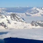 Grajische Alpen 2 - Blick vom Pointe Helbronner nach Süd