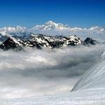 Mont Blanc-Gruppe 12 - Blick vom Eselsrücken am Gran Paradiso