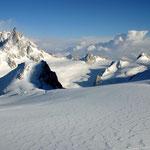 Mont Blanc-Gruppe 7 - Grandes Jorasses, Dent du Géant, Pointe Helbronner