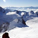 Mont Blanc-Gruppe 4 - Blick vom Vallée Blanche nach Süd