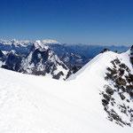 Mont Blanc-Gruppe 11 - Blick von der Aig. du Midi