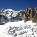 Mont Blanc-Gruppe 2 - Blick vom Glacier du Géant