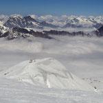 Grajische Alpen 4 - Blick vom Pointe Helbronner nach Süd