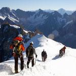 Mont Blanc-Gruppe 5 - Abstieg von der Aig. du Midi ins Vallée Blanche