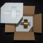 Verpackung mit Styroporlagerung
