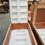 Versandbehälter für fünf Baugruppen