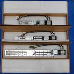 Verpackung für verschiedene Linearachsen