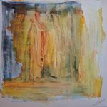 """""""Ames"""" , The Light (La Lumière). Acrylique & pastel sur un diptyque de toiles 3D 60x60"""