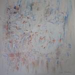 """""""Paix-Air"""" (Père). Acrylique & pastel sur toile 3D 90x90."""