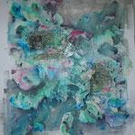 """""""Spring Equinox"""". Acrylique & techniques mixtes sur toile 3D 120x100."""