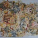 """""""Resonance"""". Acrylique & techniques mixtes sur toile 3D 120x100"""