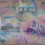 """""""Paris"""". Acrylique, techniques mixtes & résine sur toile 3D 80x60."""
