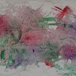 """""""Garden"""" (Jardin). Acrylique sur toile 120x40."""