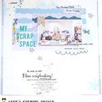 Fotoidee - Scrapspace fotografieren und ein Scrapbookinglayout zur Erinnerung machen