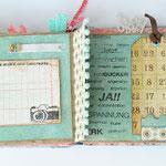 Monatsstempel im Einsatz bei Minialben und Reisetagebücher