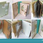 Verschiedene Monatsstempel Ideen für Minialben und Reisetagebücher im Scrapbookingstil