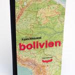 Reisetagebuch selber machen - Texte stempeln mit verschiedenen Monatsstempeln