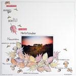 Herbstliche Scrapbooking Layout Idee mit Herbst-Stempel