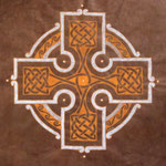 Brown celtic cross