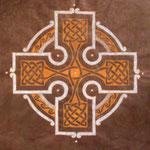Braunes keltisches Kreuz