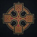 Schwarzes keltisches Kreuz