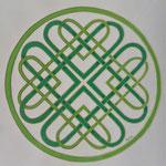 Green hearts knot