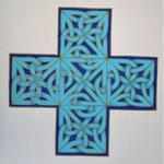 Blaues Ulber Steinkreuz