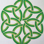 Grüner keltischer Knoten