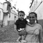 Gipsy mother and son - Portugal, 2013