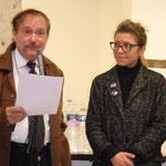 Comité de quartier st Roch-Ecusson- Galette des rois 2015 - JM Quiesse et Mylène Chardès