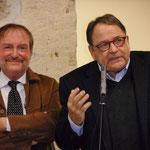 Comité de quartier st Roch-Ecusson- Galette des rois 2015 - JM Quiesse et Jacques Martin