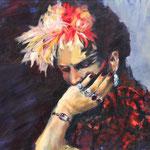 Frida, 30x24, acrylic on canvas, by Polina Reisman