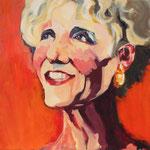 Emma, 24x24, acrylic on canvas, by Polina Reisman