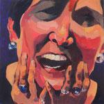 Priscilla, 24x24, acrylic on canvas, by Polina Reisman