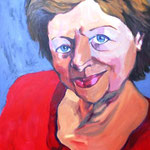 Sophia, 36x48, acrylic on canvas, by Polina Reisman