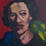 Reflection, 24x24, acrylic on canvas, by Polina Reisman