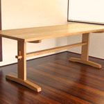 タモ木組みダイニングテーブル