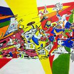 Civilização decadente, acrylic on canvas, 180 x 230 cm, 2014