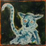 Kleiner Lemur, oil on canvas, 30 x 30 cm, 2015