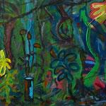 A Selva de João, Acrylic on Board, 2014, 20 x 30 cm