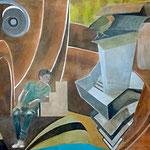 Gugg mal!, acrylic on canvas, 125 x 180 cm, 2016