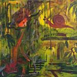 once concrete, now jungle, Acrylic on Canvas, 2014, 40 x 60 cm